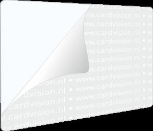 zelfklevende witte pvc kaart