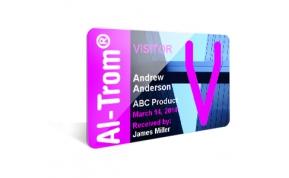 Card Vision voorbeeld card Evolis Carte AI TROM