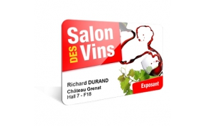 Card Vision voorbeeld card Evolis Carte EVENEMENT