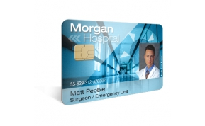 Card Vision voorbeeld card Evolis Carte Morgan Hospital