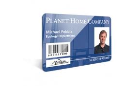 Card Vision voorbeeld card Evolis Carte Planet home