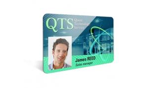 Card Vision voorbeeld card Evolis Carte QTS employee 2013