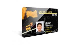 Card Vision voorbeeld card Evolis Carte SCHOOL BUS ENG