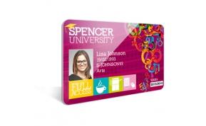 Card Vision voorbeeld card Evolis Carte Spencer University