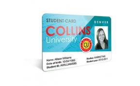 Card Vision voorbeeld card Evolis Carte-University-collins
