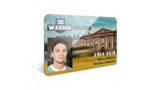 Card Vision voorbeeld card Evolis Carte Warren Student 2013