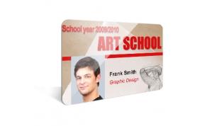 Card Vision voorbeeld card Evolis Carte art school ENG