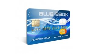 Card Vision voorbeeld card Evolis Carte blue bank