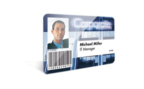 Card Vision voorbeeld card Evolis Carte-corporate-blue