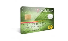 Card Vision voorbeeld card Evolis Carte-evolisbank-vert