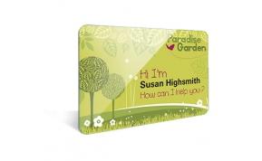 Card Vision voorbeeld card Evolis Carte jardinerie