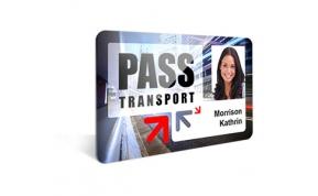 Card Vision voorbeeld card Evolis Carte-pass-transport