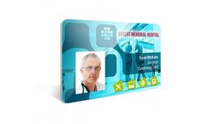 Card Vision voorbeeld card Evolis Carte-sante-identification ROBERT MEMORIAL