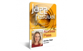 Card Vision voorbeeld card Evolis Carte_vertical Jazz festival