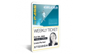 Card Vision voorbeeld card Evolis Carte_vertical ski pass woman