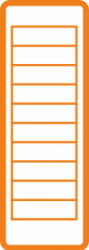 muurhouder oranje icoon